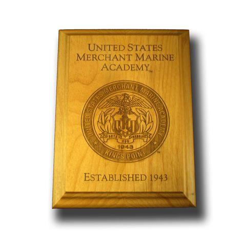 "8""x10"" Wood U.S. Merchant Marine Wall Plaque"