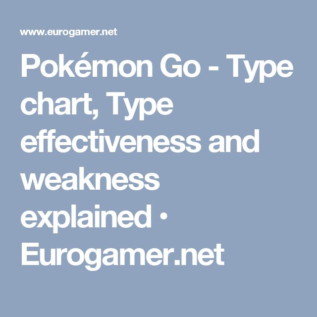 Pokémon Go - Type chart, Type effectiveness and weakness explained • Eurogamer.net