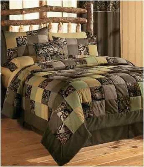 Best Bedding Creations Images On Pinterest Sewing Projects - Black and grey camouflage comforter set