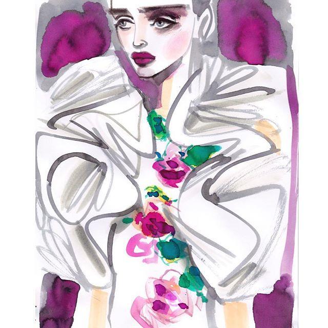 #giambattistavalli #couture #fashionart #fashionillustration #fashionillustrator #artwork #artist #artoftheday #art #artsy #fashionista #fashiondrawing #draw #drawing #paint #painting #ink #flowers #couture #fashionlover #fashionblogger #fashionshow #fashionstyle #fashionsketch #watercolor