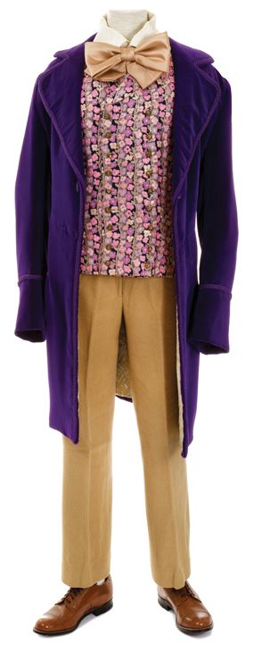 "Lot 355: Gene Wilder ""Willy Wonka"" signature costume from   Willy Wonka & the Chocolate Factory. (Paramount, 1971)"