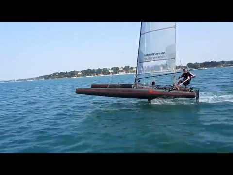 first sailing test with 4 foils