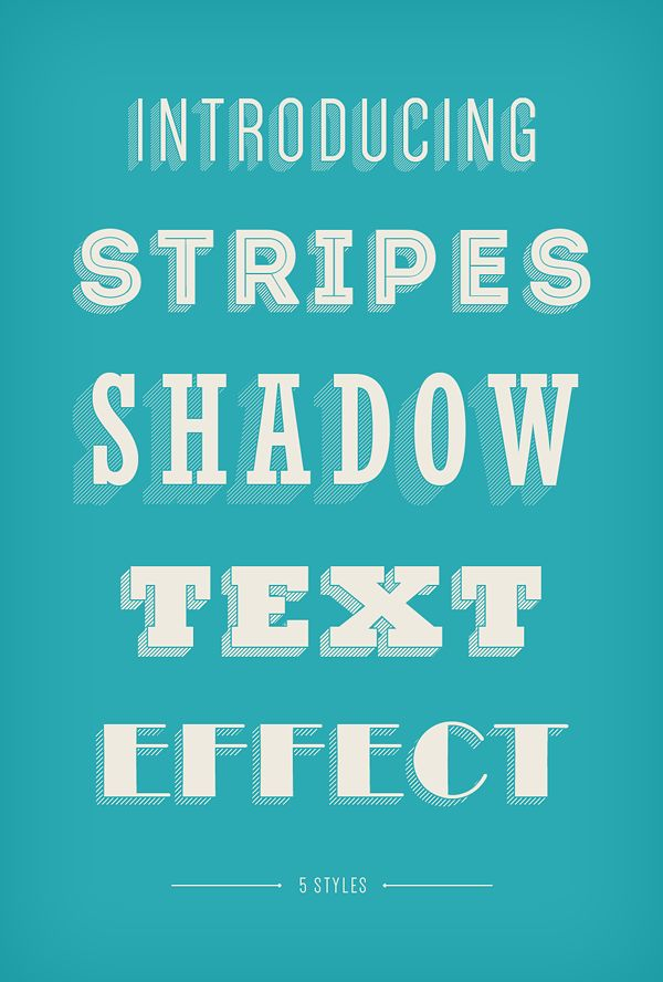Stripes Shadow Text Effect | GraphicBurger