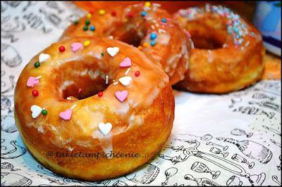 Tradycyjnie z nutką nowoczesności.: Donaty - amerykańskie doughnuts - pączki z dziurką