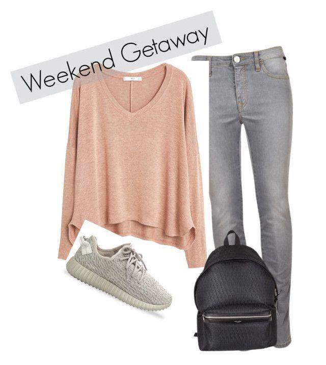 WEEKEND by gizli-leylak on Polyvore featuring moda, MANGO, adidas Originals and Yves Saint Laurent