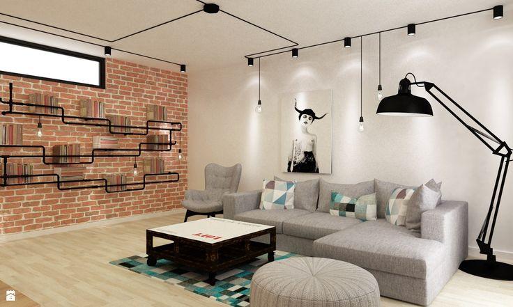 Salon styl Skandynawski - zdjęcie od Grafika i Projekt - Salon - Styl Skandynawski - Grafika i Projekt