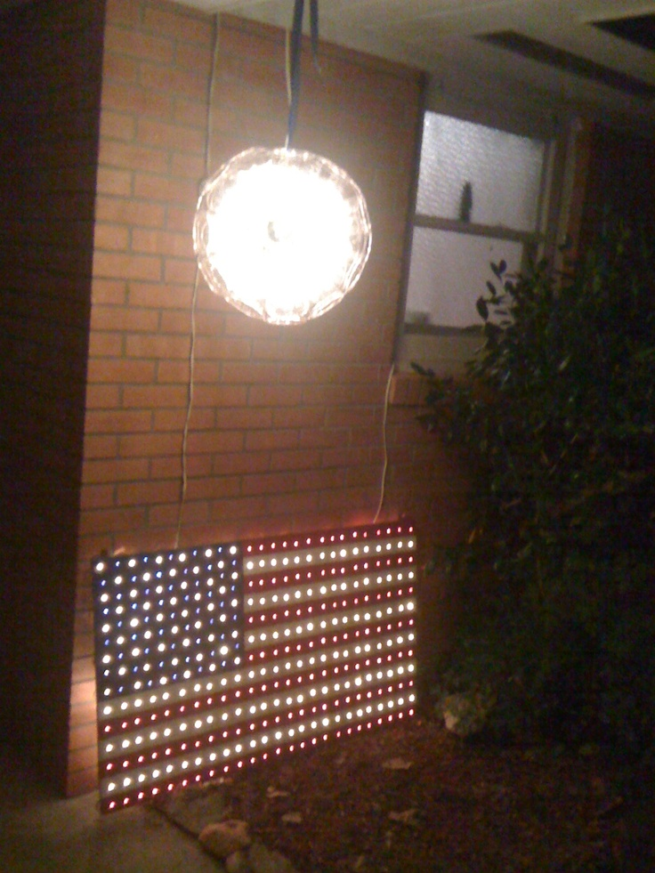 4th of july lighted window decorations