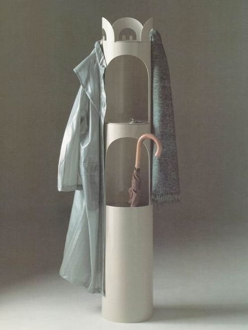 Enzo Mari; ABS Plastic 'Kerguelen' Coat Rack for Danese, 1968.