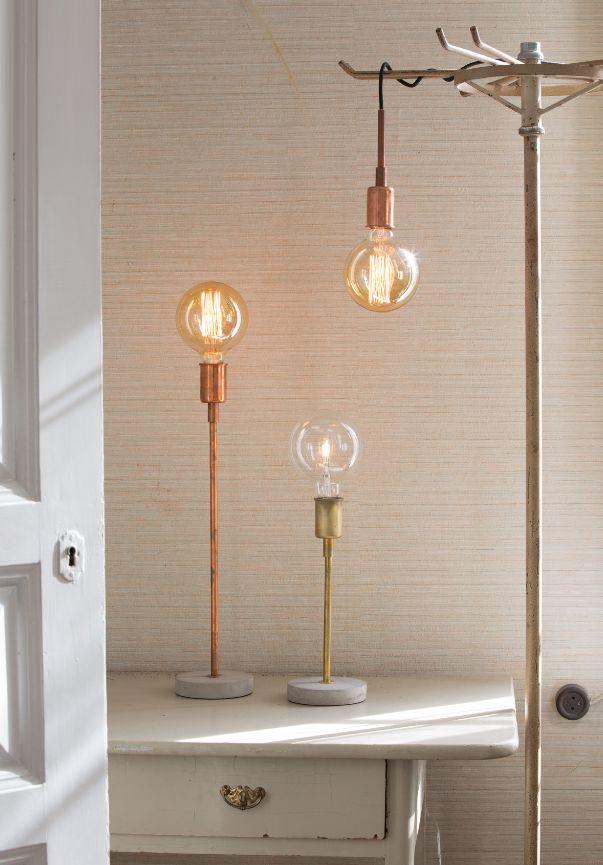 6b4b8dcb504b4ed939204b8b0365b3b2  concrete lamp copper lamps 5 Inspirant Lampe à Poser Bleue Sjd8
