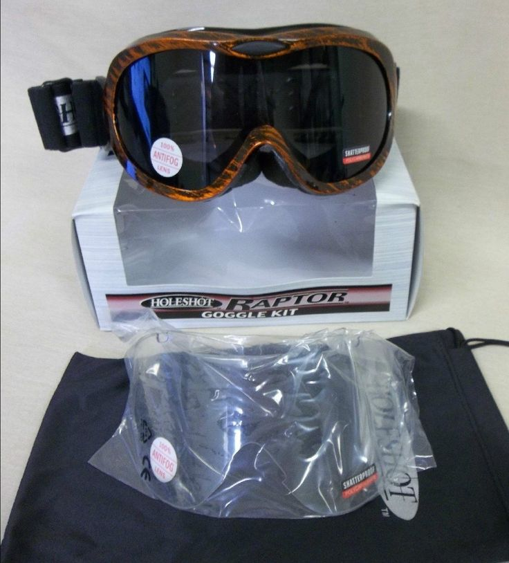 Holeshot Raptor Goggle Kit Orange NIB (792)