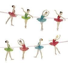 Meri Meri Little Dancers Ballet Garland | Ballet Themed Party Supplies – available at www.buildabirthday.co.nz