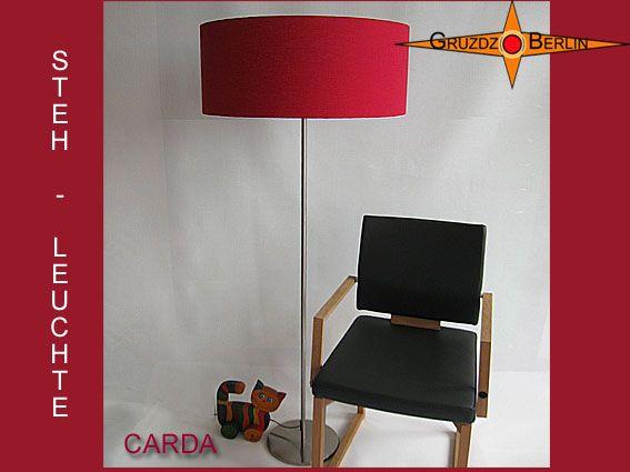 """Stehleuchte CARDA h 155 cm Stehlampe Bordeaux. Klassische Elegance in Bordo: Die Stehleuchte CARDA bringt eine elegante und warme Atmosphäre in den Raum.Und das Schöne ist, dass CARDA eine """"Ganzjahreslampe"""" ist."""