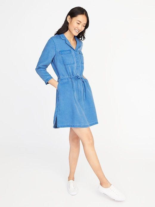 dccdc4ea01 Tencel® Utility Shirt Dress for Women