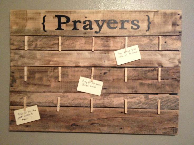 Recycled Pallet into Prayer Board- (Youth/highschool room)