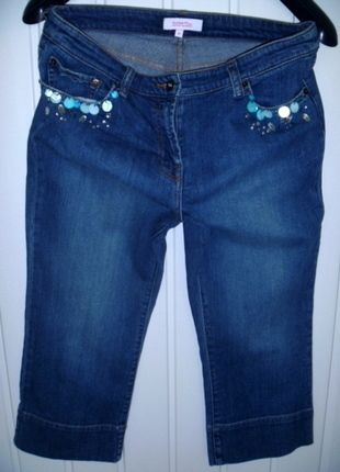 Kup mój przedmiot na #vintedpl http://www.vinted.pl/damska-odziez/dzinsy/9927083-jeansy-do-kolan-z-zdobieniami