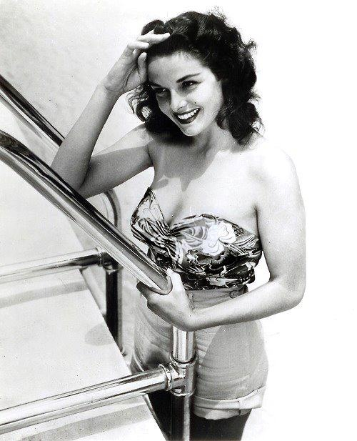 Happy Birthday Jane Russell!  June 21, 1921 - February 28, 2011    Known for her sultry looks and famous figure, Jane Russell was a favorite pin up for GIs in the 1940s-1950s. She was discovered by Howard Hughes and quickly rose to stardom when photos of her in low-cut costumes and swim suits were released as publicity shots before her first movie was even released.