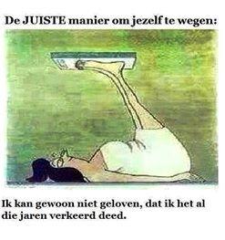 De juiste manier om jezelf te wegen... #weegschaal #eetstoornis #herstel #HumanConcern