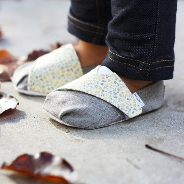 Chaussons en tissu / Fabric slippers