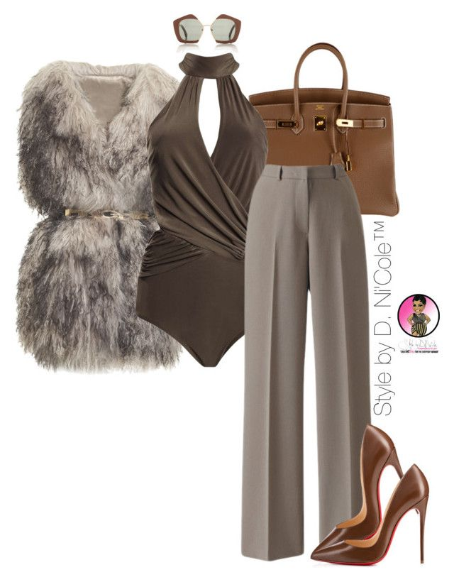"""Untitled #2878"" by stylebydnicole ❤ liked on Polyvore featuring PINGHE, Hermès, Boohoo, Marni and Christian Louboutin"