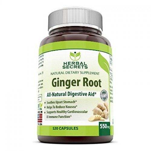 Herbal Secrets Ginger Root Supplement - 550 mg Capsules - Easy to Swallow Capsule - Helps to Relieve From Symptoms of Nausea and Upset Stomach * An All Natural Digestive Aid * 120 Capsules Per Bottle - http://alternative-health.kindle-free-books.com/herbal-secrets-ginger-root-supplement-550-mg-capsules-easy-to-swallow-capsule-helps-to-relieve-from-symptoms-of-nausea-and-upset-stomach-an-all-natural-digestive-aid-120-capsules-per-bottle/