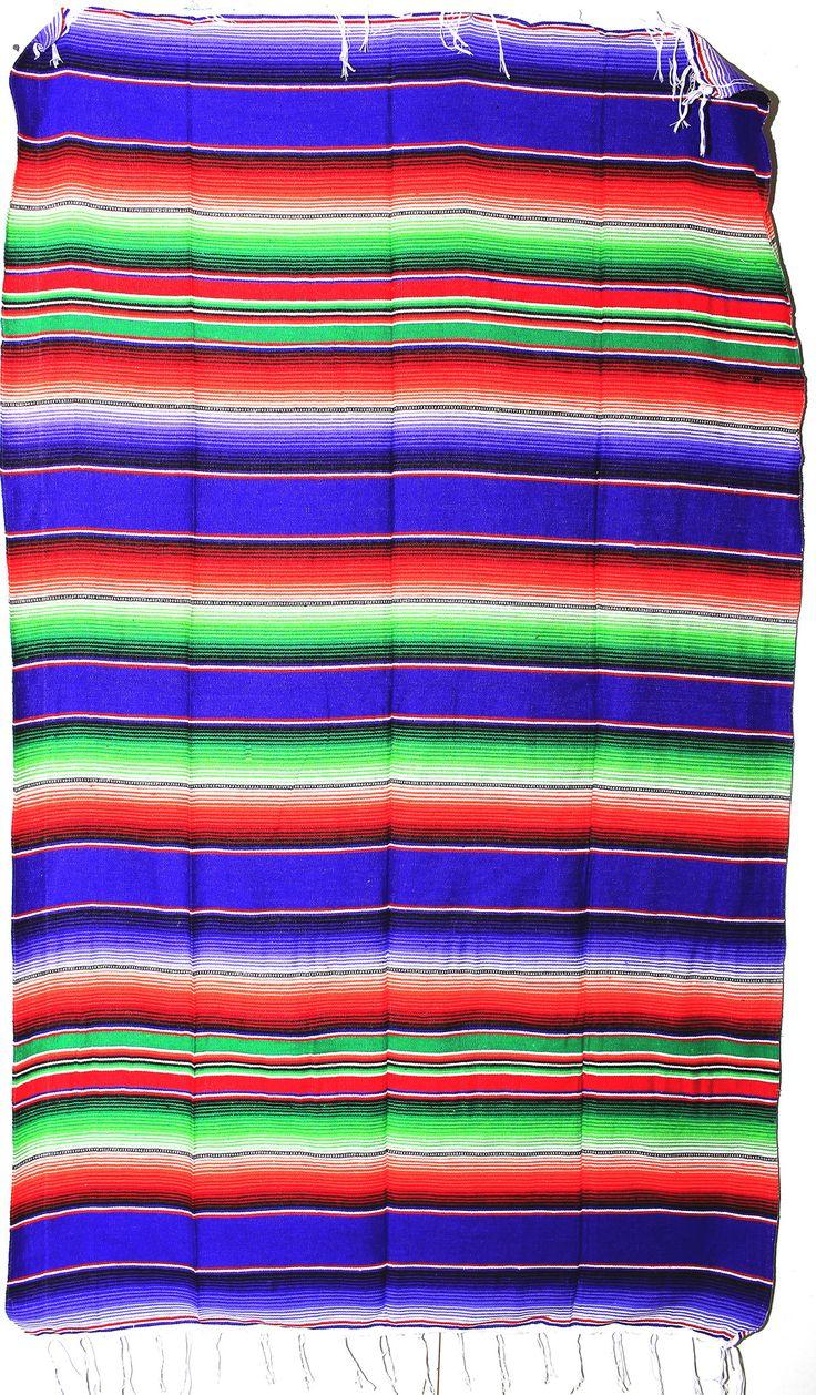 MEXICAN SARAPE BLANKET LG 4' X 6' serape zarape MSB034