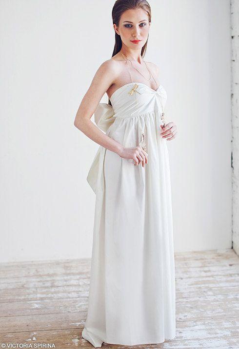 Hawaii  100% cotton Beach wedding dress by VICTORIASPIRINA on Etsy