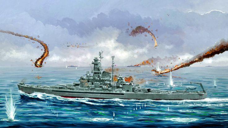 1942 10 26 Santa Cruz USS South Dakota BB 57 - Trumpeter BFD
