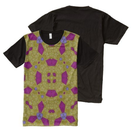 Abstract Pattern yellow purple All-Over-Print T-Shirt - click/tap to personalize and buy