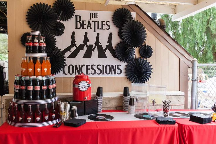 What a cool Beatles birthday party! See more party ideas at CatchMyParty.com!