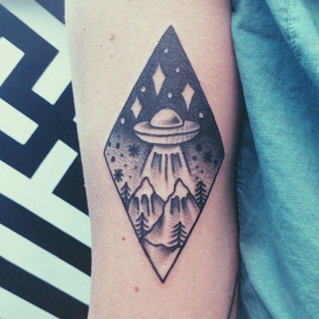 Small X Files Tattoo: Twin Peaks-X Files Tattoo