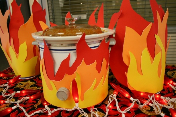 Chili Cook Off Flames, a great way to cover crock pots