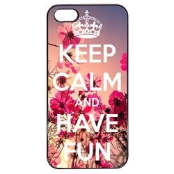 Coque Iphone 5/5s - Keep Calm And Have Fun - Ref 410