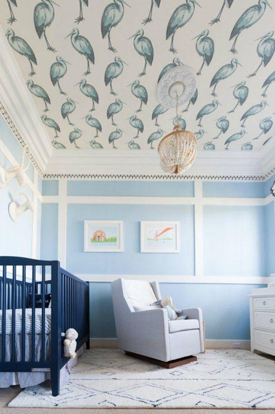 10 Habitaciones de bebé de color azul