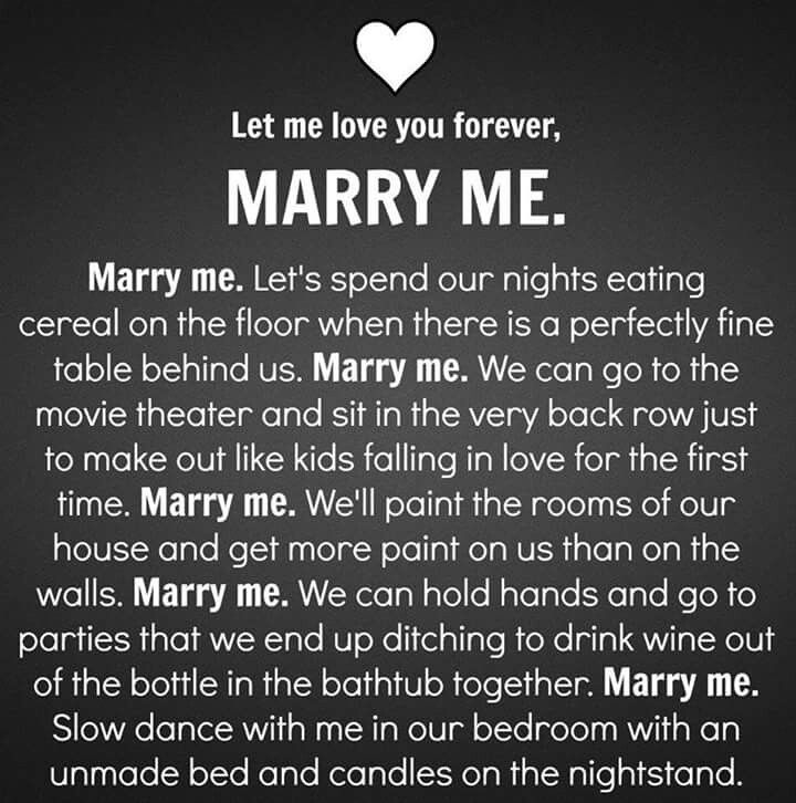 Marry Me Quotes, Relationship