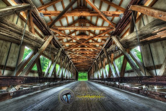 Mechanicsville Covered Bridge Fine Art  by CriswellPhotography, $15.00