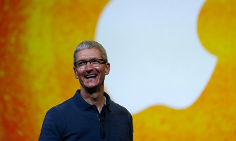Apple's Tim Cook tells investors angry about share price: 'I don't like it either'  Head of technology giant faces protest over 51% pay rise that may include more than a third of investors