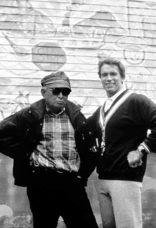 Akira Kurosawa and Arnold Schwarzenegger    SUBLIME.
