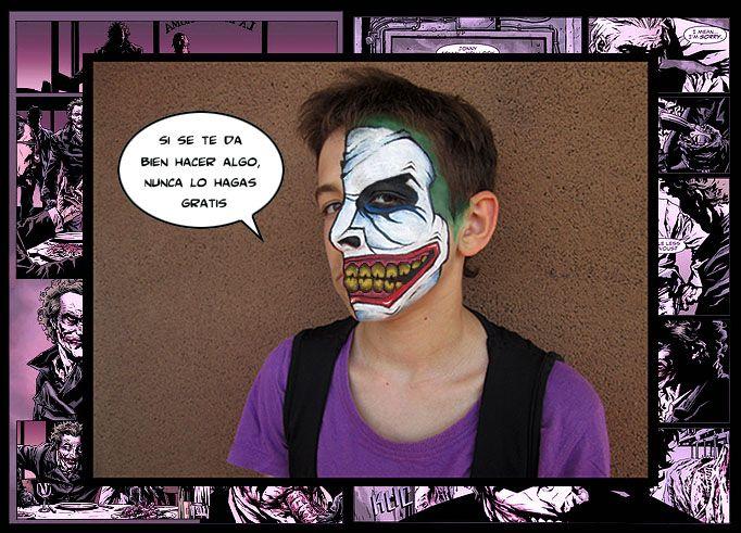 El Joker estilo cómic. Acuacolor