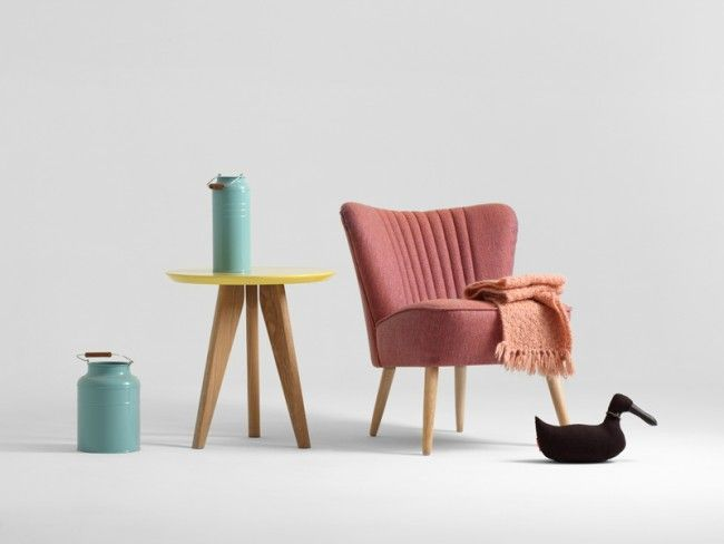 modern accent chair finished with funky pink. Great match to Scandinavian  wooden modern furniture. - 38 Best Accent Chairs Images On Pinterest