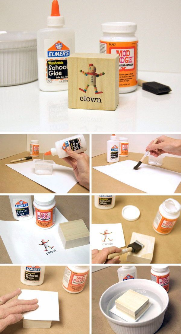 How To Transfer Inkjet Images To Wood With Mod Podge.