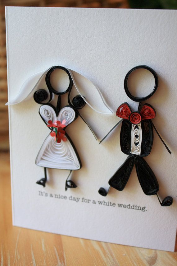 White Wedding Card Billy Idol 80 S Stick Figures Unique Greeting