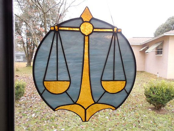 LAW~Stained Glass Scales of Justice Freeform Scales is a by ObanaGlass, etsy