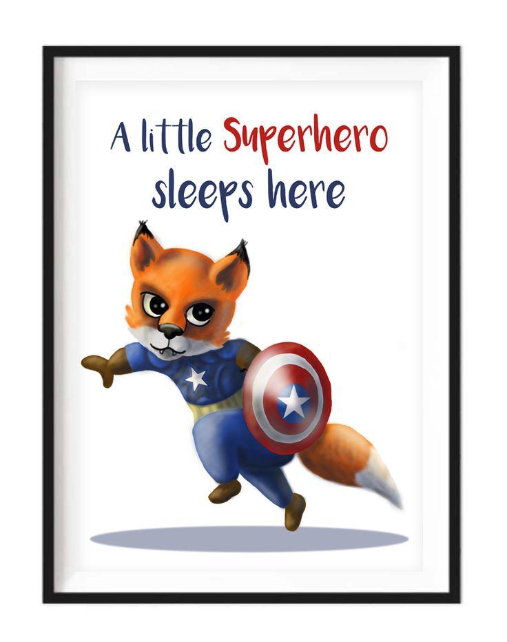 Captain Fox Print