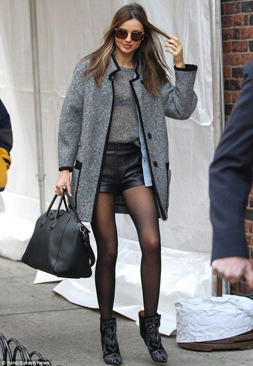 .: Miranda Kerr, Leather Shorts, Mirandakerr, Outfits, Clothing, Street Style, Victoria Secret, Fashion Inspiration, New York Cities Style Winter