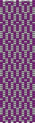 Gyöngyékszer minták: Solana peyote minta