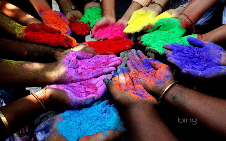 Kleur poeder voor holi