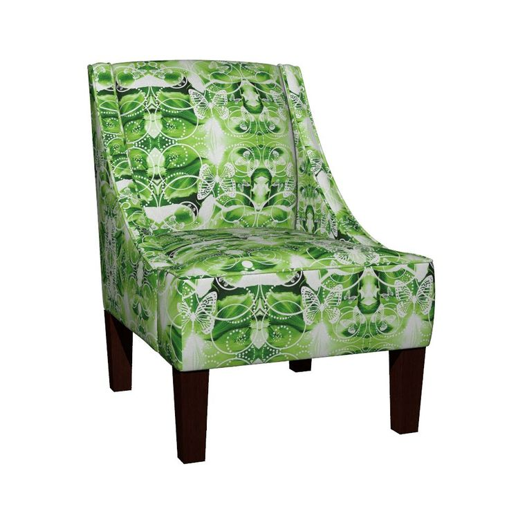 Venda Sloped Arm Chair featuring Po13Gloria by joancaronil | Roostery Home Decor