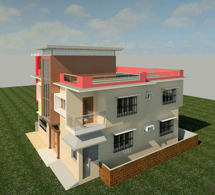 Beautiful INDIAN HOUSE DESIGN BY  POCHA A.SUBHAN THIS IS MY STUDY WORK IN REVIT
