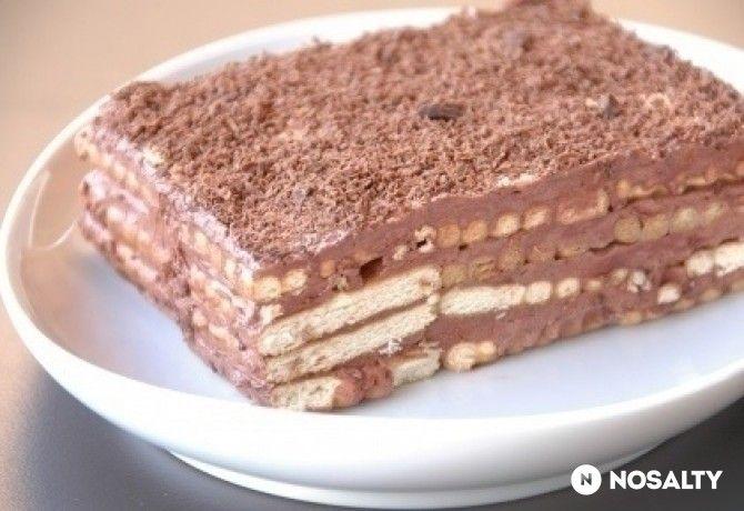 Nepečená čokoládová torta s bebe keksami - Receptik.sk