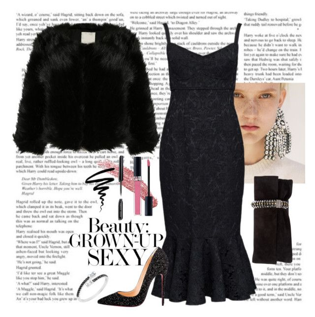 """Party Dress"" by monicalyn on Polyvore featuring Spineless Classics, Dolce&Gabbana, Christian Louboutin, Jimmy Choo, Bobbi Brown Cosmetics, Christian Dior and Burberry"
